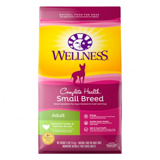 Wellness Small Breed Adult Deboned Turkey & Oatmel Recipe Natural Dog Food 1.8 kg