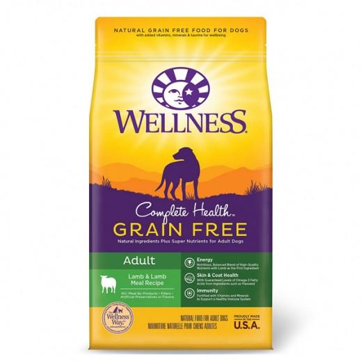Wellness Grain Free Lamb & Lamb Meal Recipe For Adult Dogs 1.8 kg