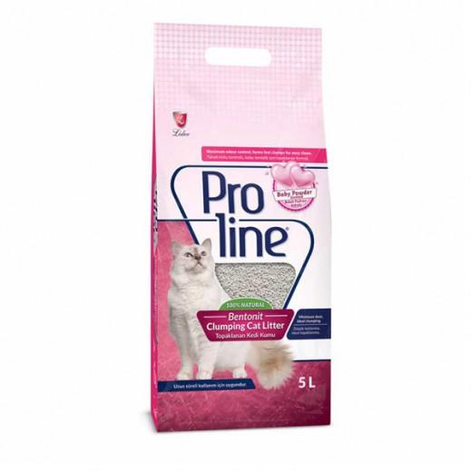Proline Bentonit Clumping Cat Litter Baby Powder 5 L