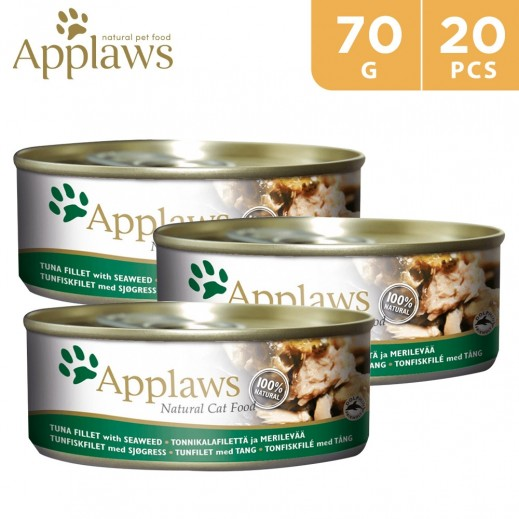 Wholesale - Applaws Natural Cat Food With Tuna Fillet With Seaweed 24 x 70 g