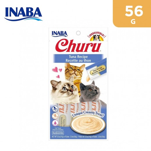 Inaba Churu Tuna Recipe Cat Treat With Added Vitamin 56 g