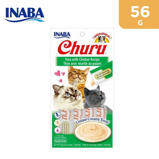 Inaba Churu Tuna With Chicken Recipe Cat Treat With Added Vitamin 56 g