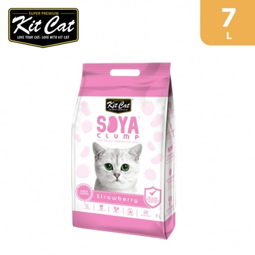 Kit Cat Soya Clump Soybean Strawberry Cat Litter 7 L