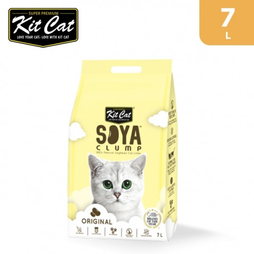 Kit Cat Soya Clump Soybean Original Cat Litter 7 L