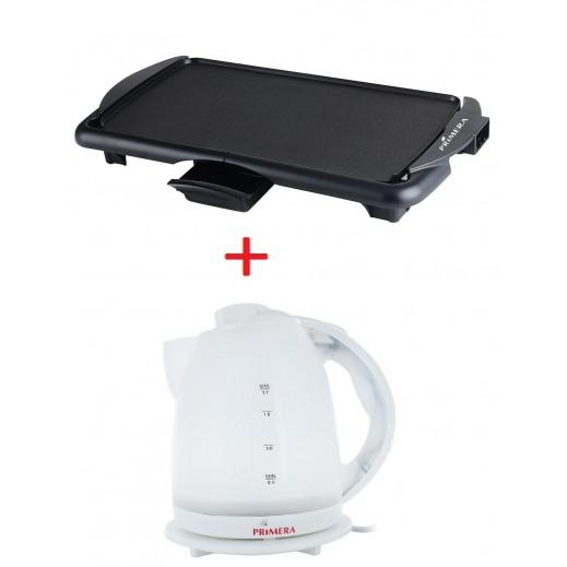 Primera BBQ Griddle Plate + Primera Concealed Kettle 1.8 L
