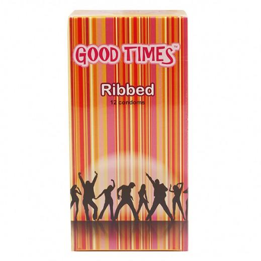 Good Times Ribbed Condoms 12 pcs