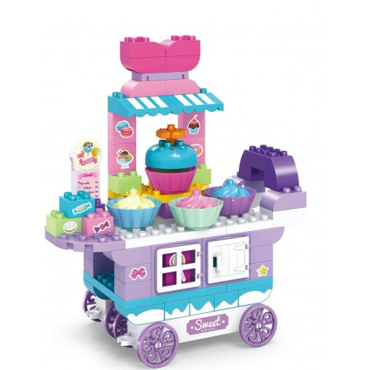 Jun Da Long Toys Sweet Shop Candy Cart Blocks 92 Pieces (3+ Years)