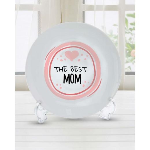 Sentence on Plate The Best MOM Design - PL006 - delivered by Berwaz.com