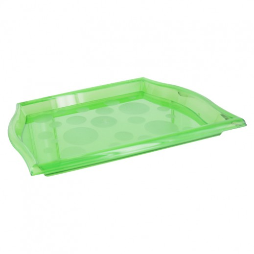 Pearl Acrylic Serving Tray Green