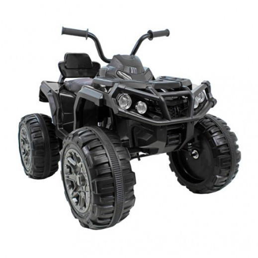 Kids Rechargeable 12V ride on quad Ride 4 Wheel Bike - Black - delivered by Click Toys