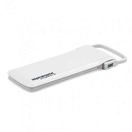Promate Lithium Polymer Power Bank 6,000mAh with Charging Cable White