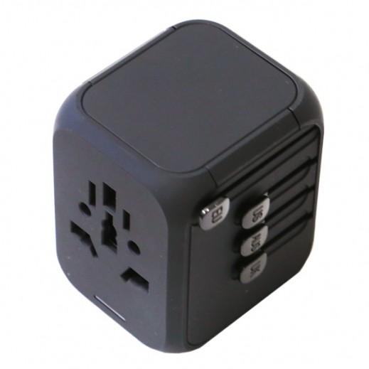 Powerology Universal Travel Adapter - Black