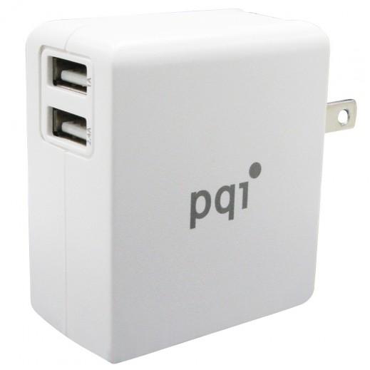PQI iCharger Mini 2USB 18W White