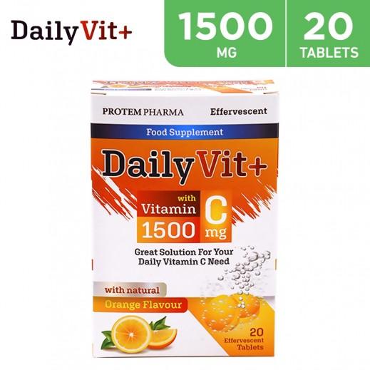 DailyVit+ Orange Flavored Vitamin C 1500 mg  (20 Tablets)