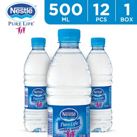 Nestle Pure Life Drinking Water 12 x 500 ml