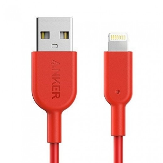 Anker PowerLine II Lightning Cable 0.9m - Red