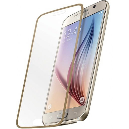 Promate Tempered Optical Glass Ultra-thin Screen Protector For Galaxy S6 White