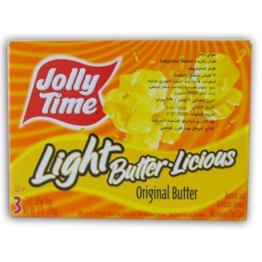 Jolly Time Light Butter Licious Microwave Pop Corn 255 g