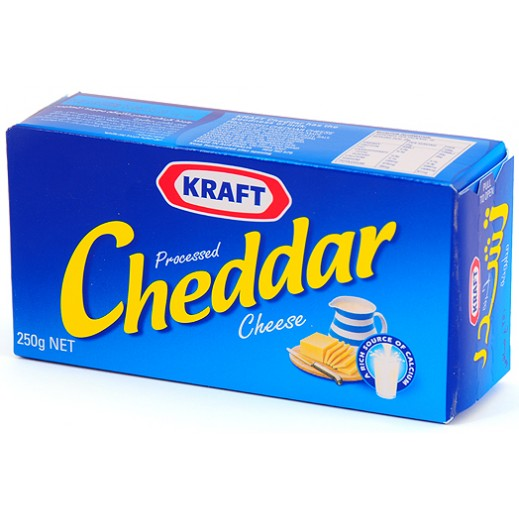 Kraft Cheddar Cheese Packets 250 g