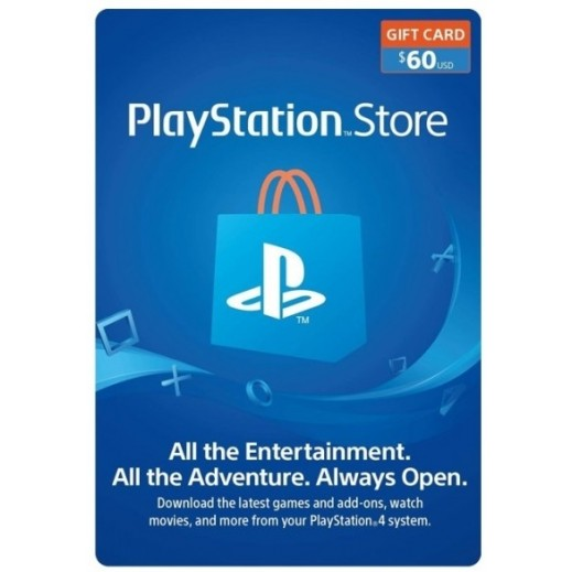 $60 SONY PlayStation Store Gift Card - US (Email Delivery)