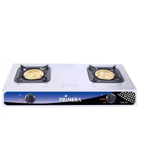 Primera 2 Burner Gas Cooker – Silver