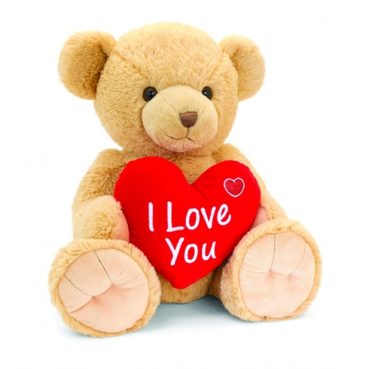 Keel 30 cm Brown Snuggles Bear with Heart