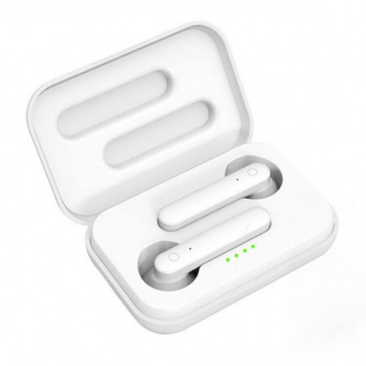 G-tab Wireless Stereo Headset with Charging Box- White