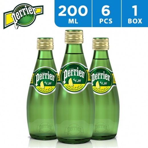 Perrier Mineral Water Natural Lemon 6 x 200 ml