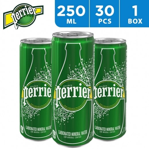 Perrier Natural Mineral Water Slim Can 30 x 250 ml