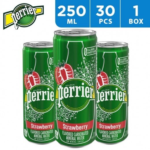 Perrier Strawberry Water Can 30 x 250 ml