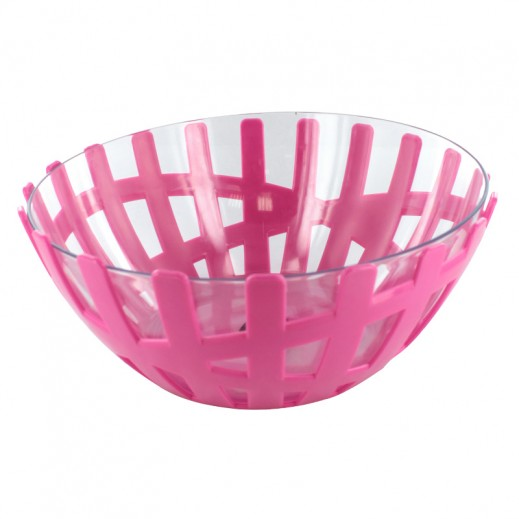 Fruit Bowl with Glass Big Red