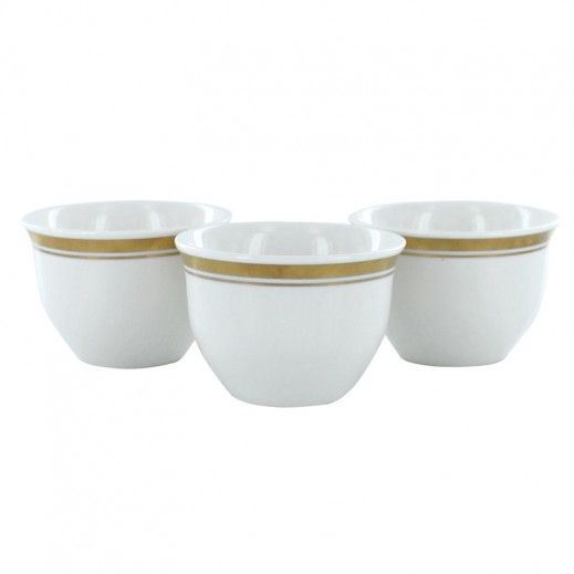 Kitchenmate Porcelain Arabic Coffee Cup Set 12 pieces