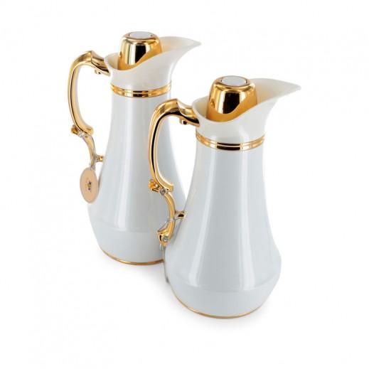 Vacuum Flask 2 pieces Set 1 ltr White