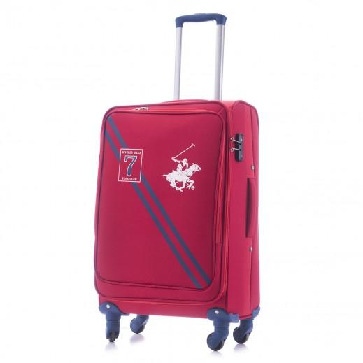 US Polo Large Seven Soft Expandable TSA Lock 4 Wheels - Red
