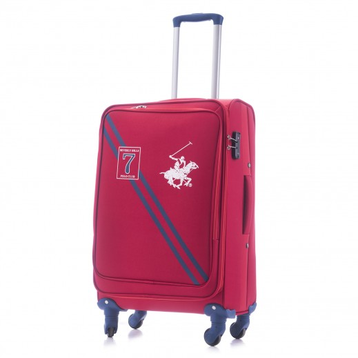 US Polo Medium Seven Soft Expandable TSA Lock 4 Wheels - Red