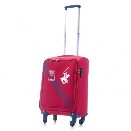 US Polo Small Seven Soft Expandable TSA Lock (57 x 34 x 24 cm) - Red
