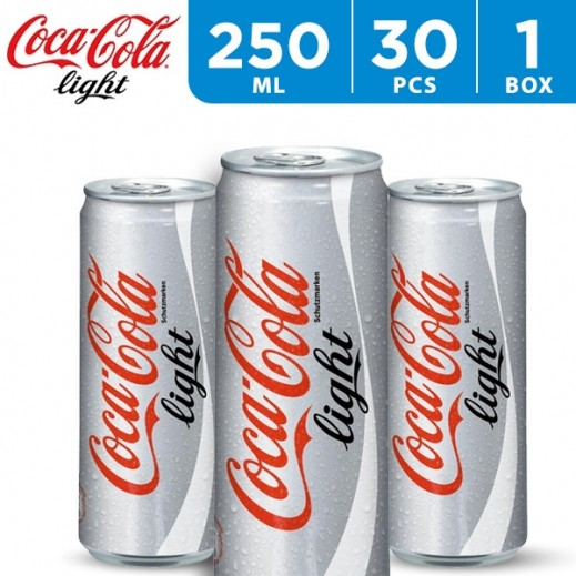 Coca Cola Light Can Carton 30 x 250 ml