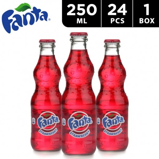Fanta Strawberry Bottle Carton 24 x 250 ml