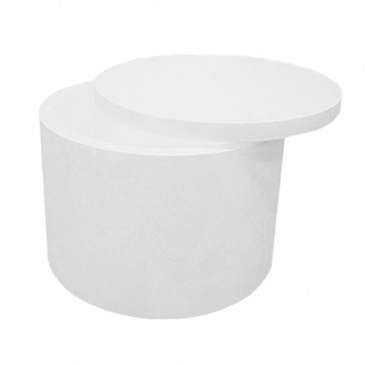 Kuwait Polymer Round Styrofoam Ice Box 34.5 x 24 cm