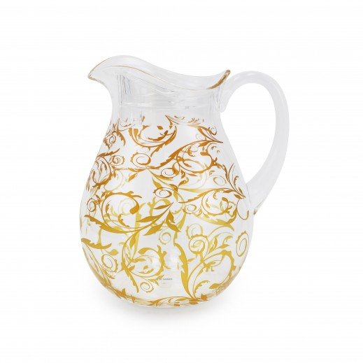 Royal House Acrylic Water Jug W/Cover 2.2 L - Golden