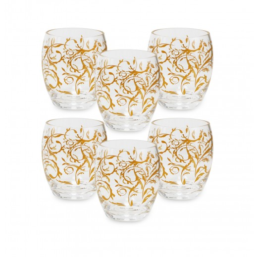 Royal House Acrylic Cup Set - Golden (6 Pieces)