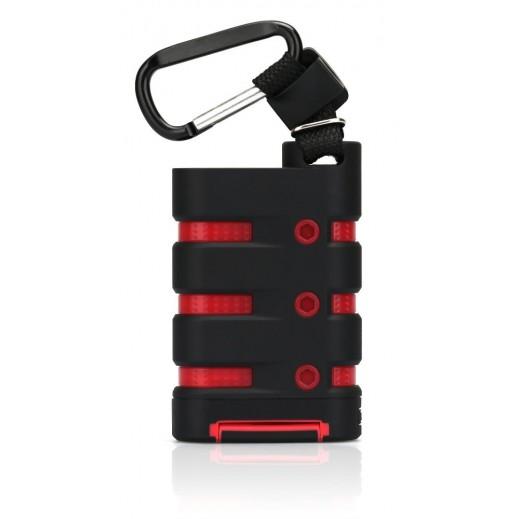 TuneWear Rugged Power Rechargable Battery 9000 mAh Black Red