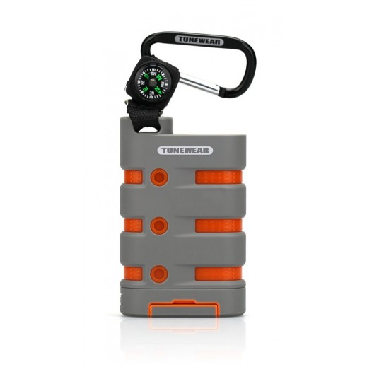 TuneWear Rugged Power Rechargable Battery 9,000 mAh Gray Orange