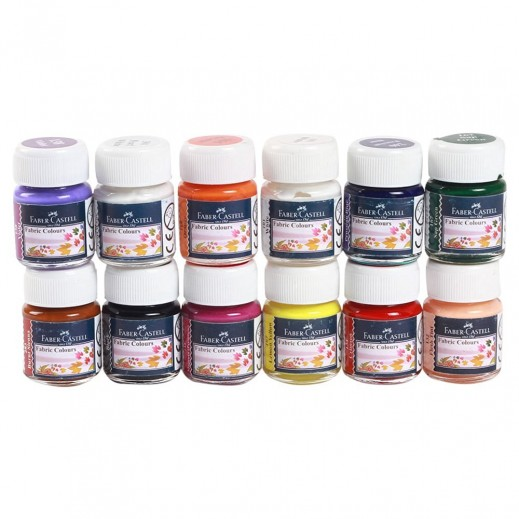 Faber Castell Fabric Colours 12 Pieces