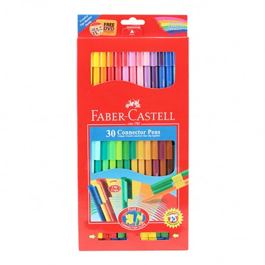 Faber Castell Connector Pens Set - 30 Pieces