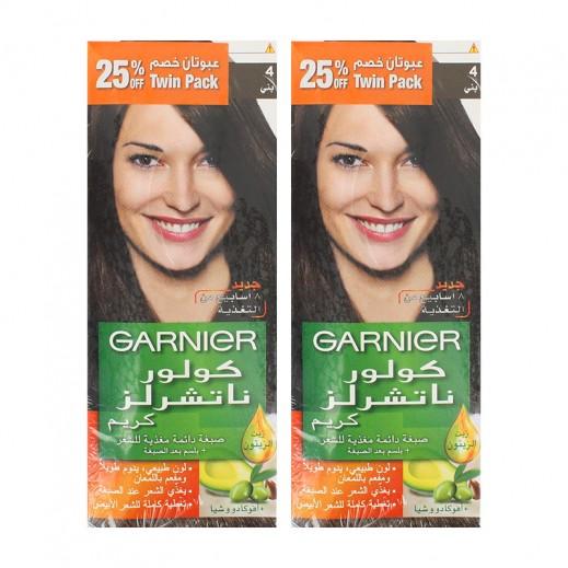 Garnier Color Naturals Hair Color Brown 4 (2 Pieces)