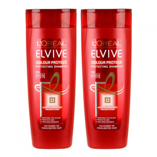 Loreal Elvive Colour Protect Twin Pack Shampoo 400ml Each