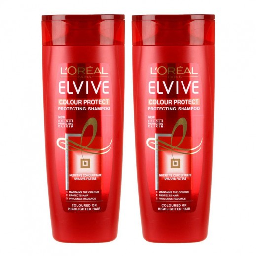 L'oreal Elvive Colour Protect  Shampoo 2 x 400 ml
