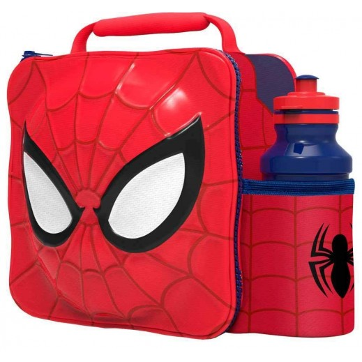 Spiderman 3D Lunch Bag with Bottle 500 ml