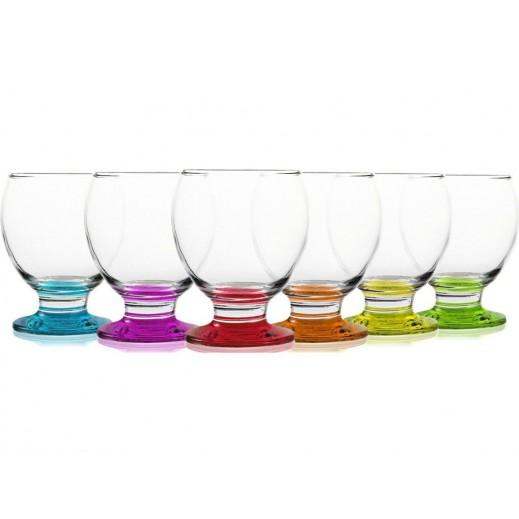Gurallar Artcraf Coloured Dessert Glass Set (6 pieces)